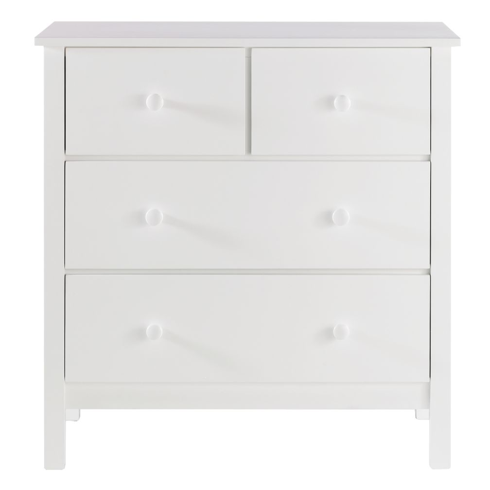 White 2-Over-2 Dresser